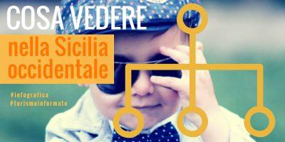 Questa immagine è la copertina dell'infografica Le cose da vedere nella Sicilia occidentale - Infografica