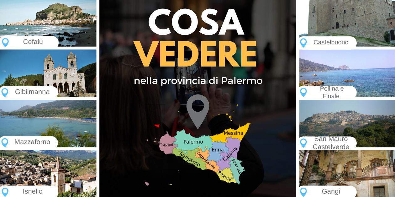 Questa immagine raccoglie le fotografie dei posti da visitare e dei luoghi di interesse turistico nei dintorni di Palermo