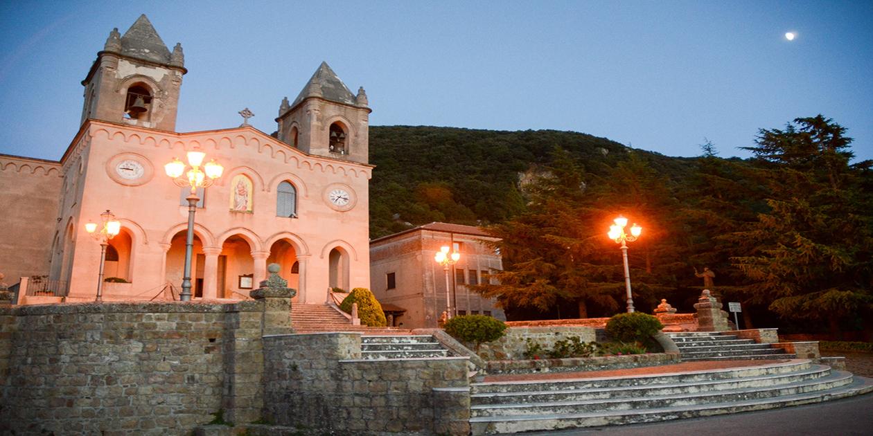 L'immagine mostra il Santuario di Gibilmanna