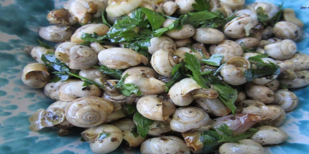 L'immagine mostra i babbaluci, lumache tipiche della cucina palermitana