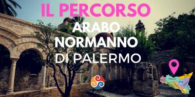 Questa immagine è la copertina dell'articolo dal titolo Percorso arabo normanno e mostra un'immagine di un giardino di Palermo