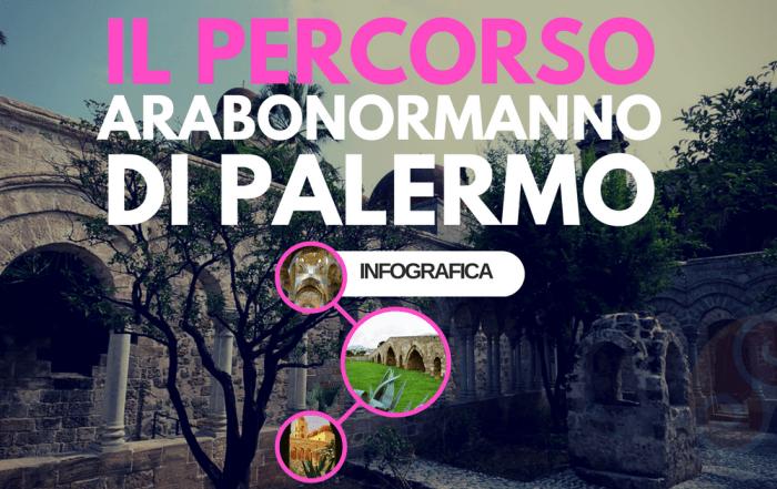 Questa immagine è la copertina dell'articolo Itinerario unesco arabo normanno di Palermo - Infografica.