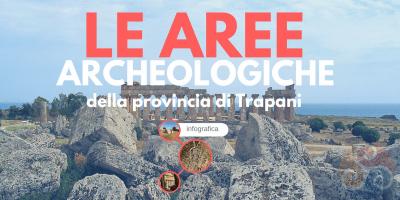 Questa immagine è la copertina dell'infografica Siti archeologici vicino Trapani e mostra il tempio di Selinunte.